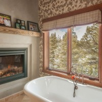 Summit County Remodel bathtub fireplace